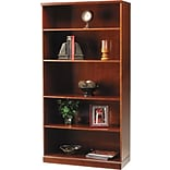 Safco Sorrento Collection in Bourbon Cherry, 5-Shelf Bookcase