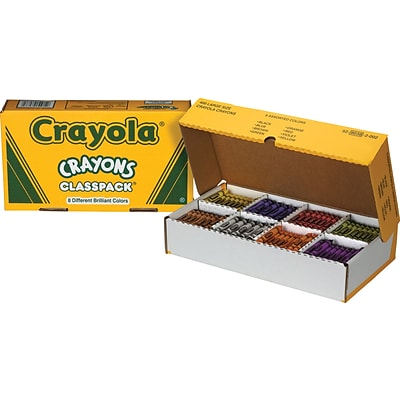 Crayola® Crayons Classpack®, 8 Colors, 400 Large Size/Box