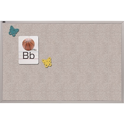 Quartet® Vinyl Bulletin Board; 48x96,  Gray