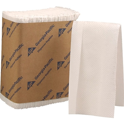 Dixie Napkin Dispenser Refill, Tall-Fold, 1-Ply, White, 250 Napkins/Pack, 40 Packs/Case (33201)