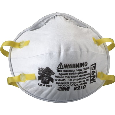 3M Disposable Particulate Respirator, 8210, N95 20/Bx, White