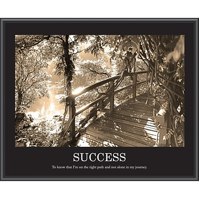 Success Sepia Tone Framed Motivational Print