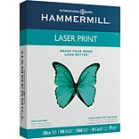 Hammermill Heavyweight Laser Copy Paper, 8-1/2 x 11, 98 Bright, 28 LB, 500 Sheets