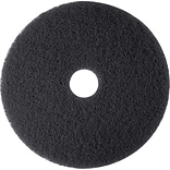 3M Low-Speed Floor Pad, High Productivity Stripping Pad 7300, Black, 14, 5/Ct (730014)