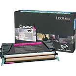 Lexmark Magenta Toner Cartridge (C734A1MG); Return Program