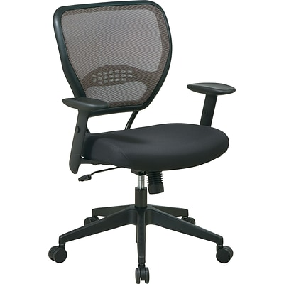 Office Star SPACE® Air Grid Deluxe Mid-Back Mesh Managers Chairs, Black Mesh
