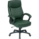 Office Star Bonded Leather Executive High-Back Chair, Green