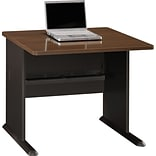 Cubix Walnut/Bronze Desk