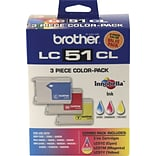 Brother® LC51CL (LC51CL3PK) Tri-Color Ink Cartridges Multi-pack (3 cart per pack)