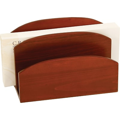 C.R. Gibson® Desk Accessories; Mahagony Birch Letter Holder