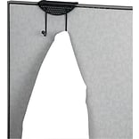 Fellowes Perf-Ect™ Partition Additions™ Coat Hook, Black, 6H x 7W x 4-1/8D
