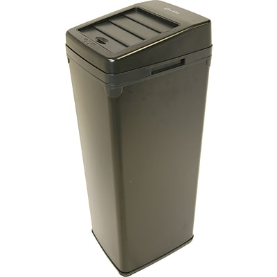iTouchless Automatic Black Steel Touchless Trash Cans® SX, 14 gal.