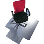 Floortex Polycarbonate Standard Lip Chairmats for All Pile Carpets, 48x53