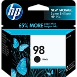 HP 98 Black Ink Cartridge, Standard (C9364WN#140)