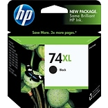 HP 74XL Black Ink Cartridge (CB336WN); High Yield