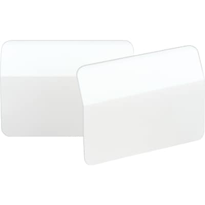 Post-it®  2 Angled Durable Tabs, White, 50 Tabs/Pack