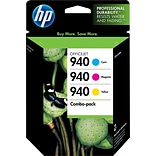 HP 940 (CN065FN) Cyan/Magenta/Yellow Original Ink Cartridges, Multi-pack (3 cart per pack)