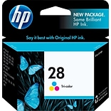 HP 28 Tri-Color Ink Cartridge, Standard Yield (C8728AN)