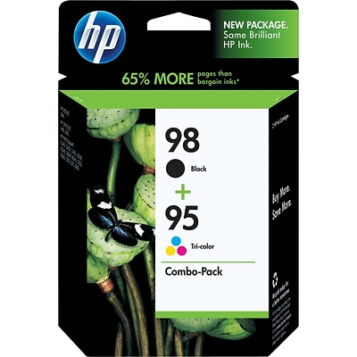 HP 98 Black/95 Tri-Color (CB327FN) Inkjet Cartridges Multi-pack (2 cart per pack)