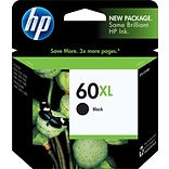 HP 60XL Black Ink Cartridge, High-Yield (CC641WN)