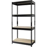 Heavy-Duty Riveted Boltless 4-Shelf Steel Shelving