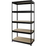Heavy-Duty Riveted Boltless 5-Shelf Steel Shelving
