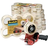 Scotch® Commercial-Grade Shipping Tape, 3 Core, Clear, 1.88 x 54.6 Yards, 36/Ct