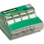 Scotch® Magic™ Tape with Refillable Dispenser, Invisible, Write On, Matte Finish, 3/4 x 13.88 yds.,