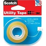 Scotch® Transparent Utility Tape with Built-in Refillable Dispenser, 1/2 X 22.2 yds., 1 Roll (RK2)