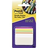 Post-it® Angled Durable Tabs, 2 Wide, Assorted Colors, 24 Tabs/Pack (686A1BB)