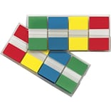 Post-it® Flags in Portable Dispenser, Assorted Primary, 1 x 1 3/4, 2 Packs of 4 Colors, 160 Flags/