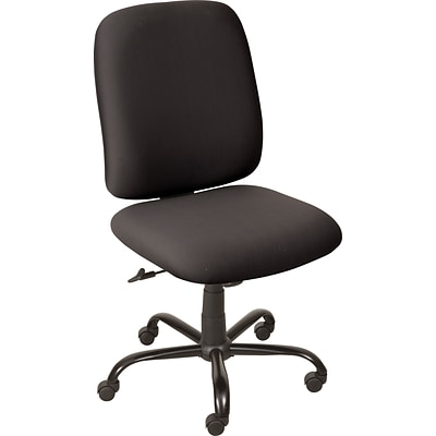 Balt Titan Big and Tall Fabric Task Mid-Back Chair, Black