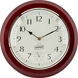 Quill Brand® 12.5 Round Quartz Wall Clock, Wood Case