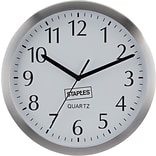 Staples® Wall Clock 10 Aluminum Round