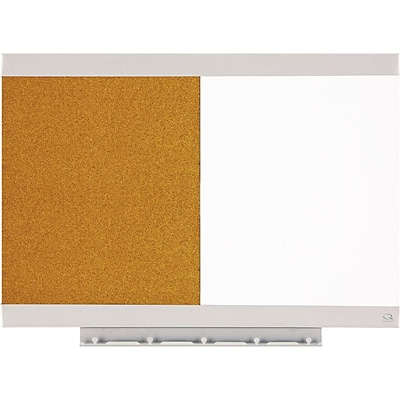 Quartet® Envi™ Combination Board, 23 x 17, Magnetic Dry-Erase/Cork, Aluminum