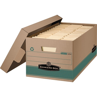 Bankers Box® Stor/File™ 100% Recycled Storage Boxes, Letter Size, Kraft, 12/Carton