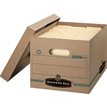 Bankers Box Stor/File Basic-Duty 100% Recycled Storage Boxes with Lift-Off Lid, Letter/Legal, 12/Ct