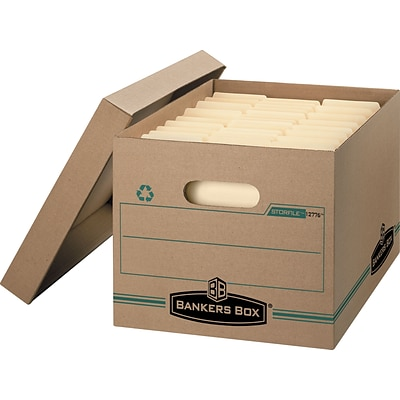 Bankers Box Stor/File Basic-Duty 100% Recycled Storage Boxes with Lift-Off Lid, Letter/Legal, 12/Ct (1277601)