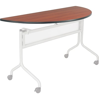 Safco® Impromptu™ 48 Half Round Mobile Training Table, Cherry