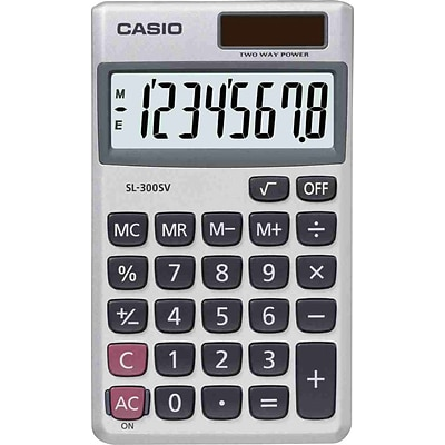 Casio® Handheld Calculators, SL-300SV 8-Digit
