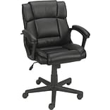 Quill Brand® Montessa II Luxura Faux Leather Computer and Desk Chair, Black (25221-CC)