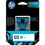 HP 02 Cyan Ink Cartridge (C8771WN)