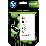 HP 74/75 Black/Tri-Color Ink Cartridges, Standard Yield, 2/Pack (CC659FN)