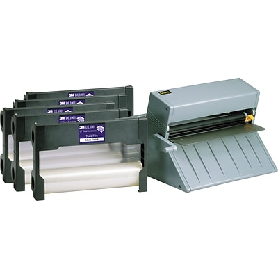 3M LS1000 Laminating System with 5x DL1001 Cartridges Thermal Laminator, 1.00 Width, Gray (LS1000VAD)
