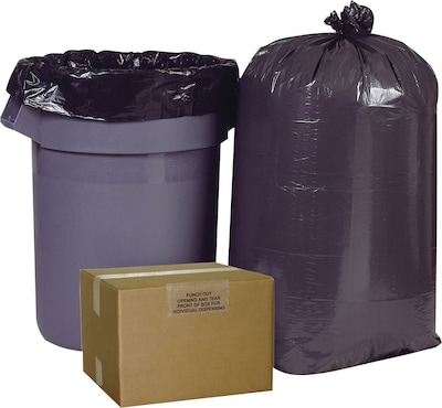 Brighton Professional™ 38x60 55-60 Gallon Trash Bags, High Density, Heavy Gauge, 150/Box, Black Color