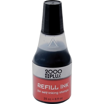 2000 Plus® Ink Refills for Self-Inking Stamp Pads, Black, 24/Carton