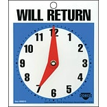 Will Return Clock/Business Hours Open Sign