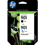 HP 901 Black/Color Ink Cartridges, Standard Yield, 2/Pack (CN069FN#140)