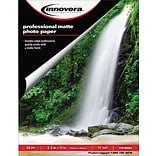 Innovera® 11 mil Heavyweight Matte Photo Paper, 8 1/2 x 11, White, 50/Pack