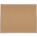 Ghent Natural Cork Bulletin Board with Aluminum Frame, 4H x 8W